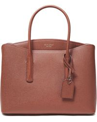Kate Spade Pebbled-leather Tote - Brown