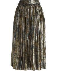 Maison Margiela - Accordion Pleat Metallic (grey) Skirt - Lyst