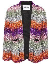 Antik Batik Sophie Sequined Georgette Jacket - Metallic