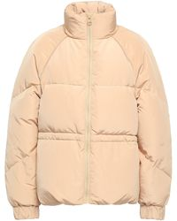Ganni Whitman Quilted Shell Down Jacket Beige - Natural