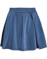adidas Originals - Pleated Jersey Mini Skirt - Lyst