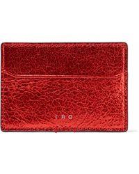 IRO - Metallic Cracked-leather Cardholder - Lyst