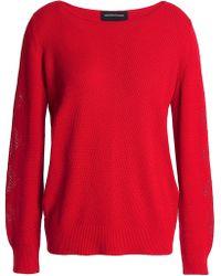 Vanessa Seward - Stretch-knit Cotton Sweater Red - Lyst