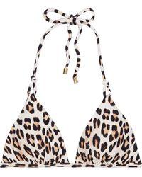 ViX Scarlet Twine Leopard-print Triangle Bikini Top - Multicolour