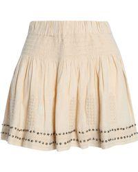 Étoile Isabel Marant - Embellished Embroidered Cotton-blend Gauze Mini Skirt - Lyst