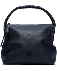 Tory Burch - Tasselled Textured-leather Shoulder Bag - Lyst