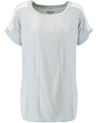 DKNY - Printed Stretch-modal Pyjama Top - Lyst