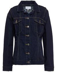 Current/Elliott Denim Jacket Dark Denim - Blue