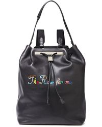 The Row 11 Printed Leather Backpack Black