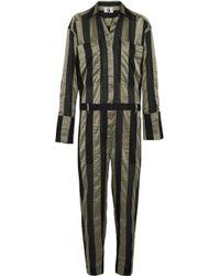 Topshop Unique - Duvall Striped Satin Jumpsuit - Lyst