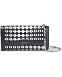 Serapian Mosaico Leather Continental Wallet - Blue