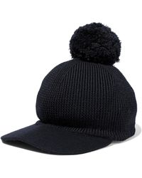 RED Valentino - Pompom-embellished Wool Cap Midnight Blue - Lyst 799773ba4ced