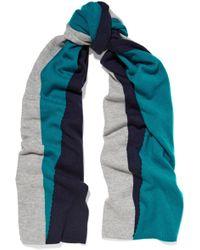 Magaschoni Color-block Cashmere Scarf - Blue