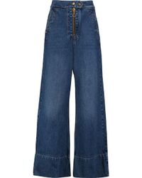 Ellery - Xylophone High-rise Wide-leg Jeans Dark Denim - Lyst
