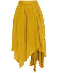 Hofmann Copenhagen Maurice Asymmetric Jacquard Wrap Skirt - Yellow