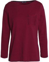 Petit Bateau Striped Cotton-jersey T-shirt Crimson - Red