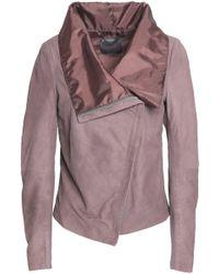 Muubaa - Sinoia Draped Leather Jacket - Lyst