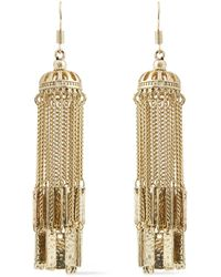 Kenneth Jay Lane Hammered Gold-plated Earrings - Metallic