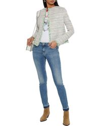 Maje Distressed Low-rise Skinny Jeans - Blue