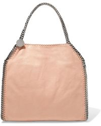 Stella McCartney - Falabella Faux Brushed-leather Tote - Lyst