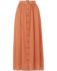 Lisa Marie Fernandez Belted Cotton-gauze Maxi Skirt - Orange