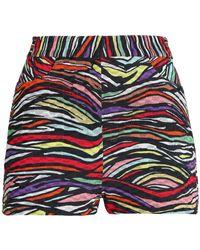 Missoni Printed Cotton-blend Crochet-knit Shorts - Black