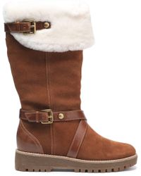MICHAEL Michael Kors - Shearling-lined Suede Boots Light Brown - Lyst