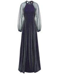 Missoni Open-back Metallic Knitted Maxi Dress - Blue