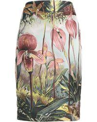 Adam Lippes - Floral-print Jacquard Pencil Skirt - Lyst