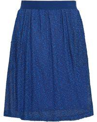 Hofmann Copenhagen Editha Embroidered Knitted Skirt - Blue