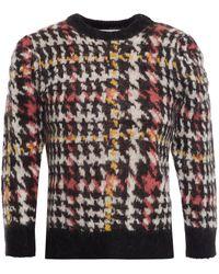 Gestuz Houndstooth Jacquard-knit Jumper - Black