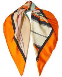 Diane von Furstenberg Jella Printed Silk-twill Scarf - Orange