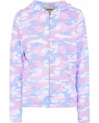 Monrow - Printed Jersey Hooded Jacket - Lyst