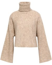 Nicholas - Mélange Alpaca-blend Turtleneck Sweater Sand - Lyst