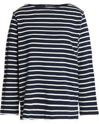 Petit Bateau Striped Cotton Top Navy - Blue