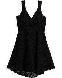 Maje - Velvet-trimmed Embroidered Mesh Mini Dress - Lyst