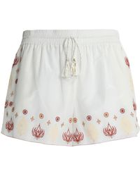 Rachel Zoe - Embroidered Cotton And Silk-blend Shorts - Lyst