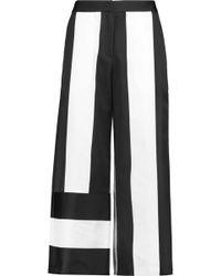Goen.J - Satin And Canvas Wide-leg Pants - Lyst
