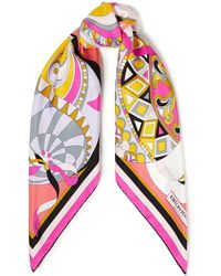Emilio Pucci Printed Silk-twill Scarf - Multicolor