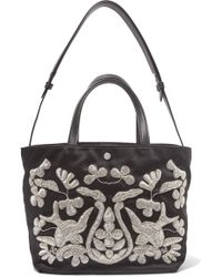 Elizabeth and James - Eloise Zardozi-embroidered Satin Tote - Lyst