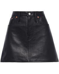 Acne Studios Leather Mini Skirt - Black