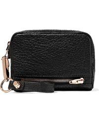 Alexander Wang Fumo Textured-leather Wallet Black