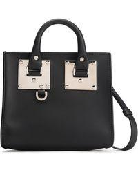 Sophie Hulme Albion Box Leather Shoulder Bag Black