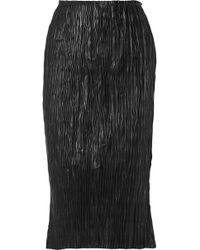Edun - Plissé-leather Skirt - Lyst
