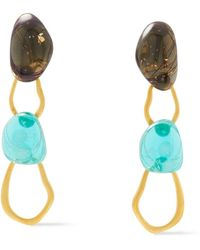 Ejing Zhang Tilda 18-karat -plated Resin Earrings - Metallic