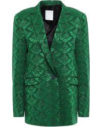 Sandro - Jacquard Blazer Green - Lyst