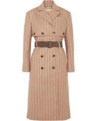 Altuzarra Pinstriped Wool And Cashmere-blend Coat - Natural