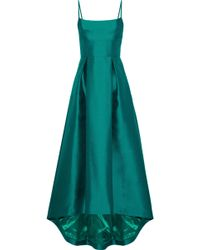 Black Halo - Adashi Pleated Duchesse Satin-twill Gown - Lyst
