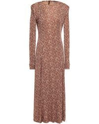 Rodebjer Acela Printed Jersey Midi Dress - Brown