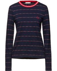 Rag & Bone Julien Striped Slub Cotton-jersey Top - Blue